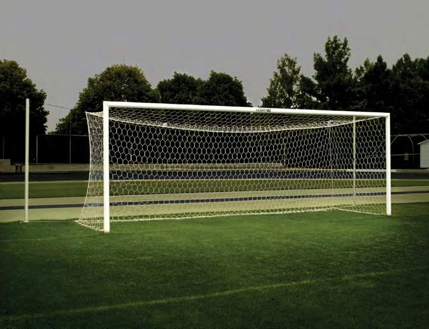 485200 Sold Separately Net Options 00492824 3mm x 5 Square Twist Nets, White (pr) 49282401 3mm x 5 Square Twist Nets, Orange (pr) 49282401 6mm x 5 Hexagon Braid Nets, Orange (pr) Goal Ground Sleeves