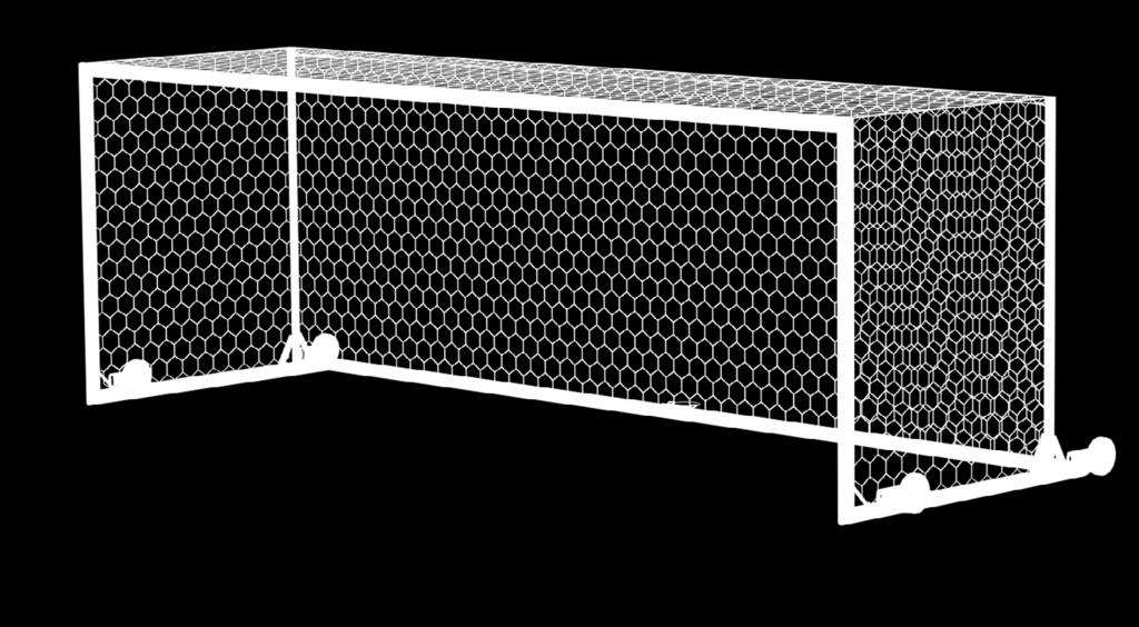 Hexagon Nets (pr), Ground Sleeves (4), Back Post Net Supports (4), Back Post Ground Sleeves (4), Net Tie Down Stakes (16) Portable World Cup Goals The Portable U90 World Cup Goal is sold in pairs.