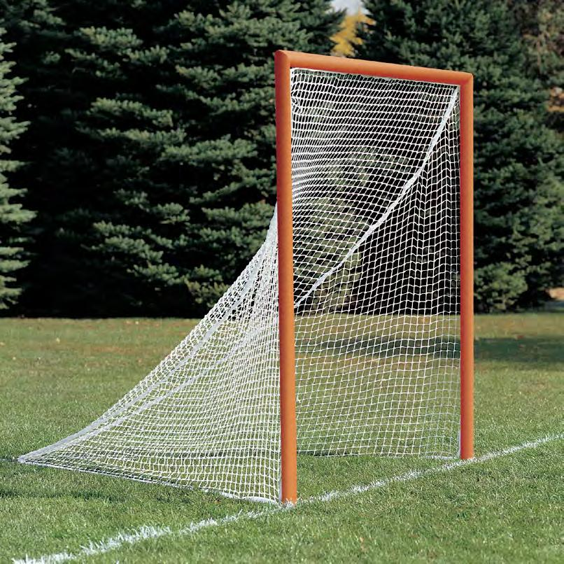 Stationary goals feature front uprights and crossbar constructed of 1 7 8 OD heavy wall steel tubing which secures into 18