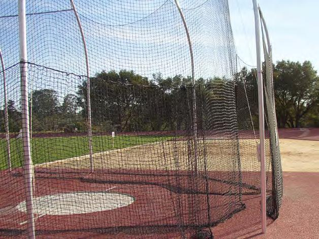 strength Net height: 13 6 Vinyl coated net support cable to reduce net sag 34.
