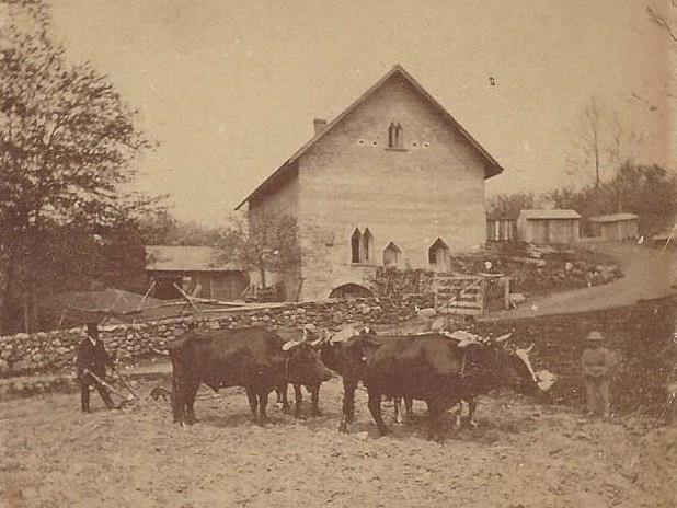 Greeley s Barn in its earliest stages, around 1856.