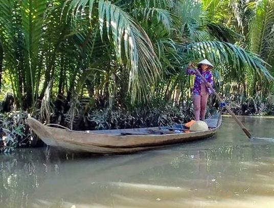 PROGRAM SUNDAY, JUNE 17 Drive to Ben Tre in the Mekong Delta before embarking on a boat ride along the Mekong River marveling at the constant crisscrossing of the sampans After disembarking the boat,