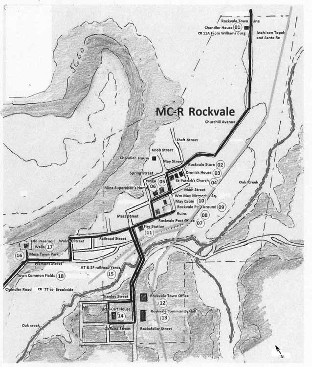 MC-R: Town of Rockvale (Continue on Churchhill Street, CR 11A, which becomes May Street in Rockvale.) MC-R-01: Chandler House.
