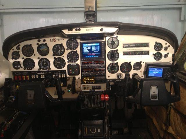 It has round dial gages, instrument flight rules (IFR) capable Global Positioning System (GPS) and visual flight rules (VFR) capable GPS.