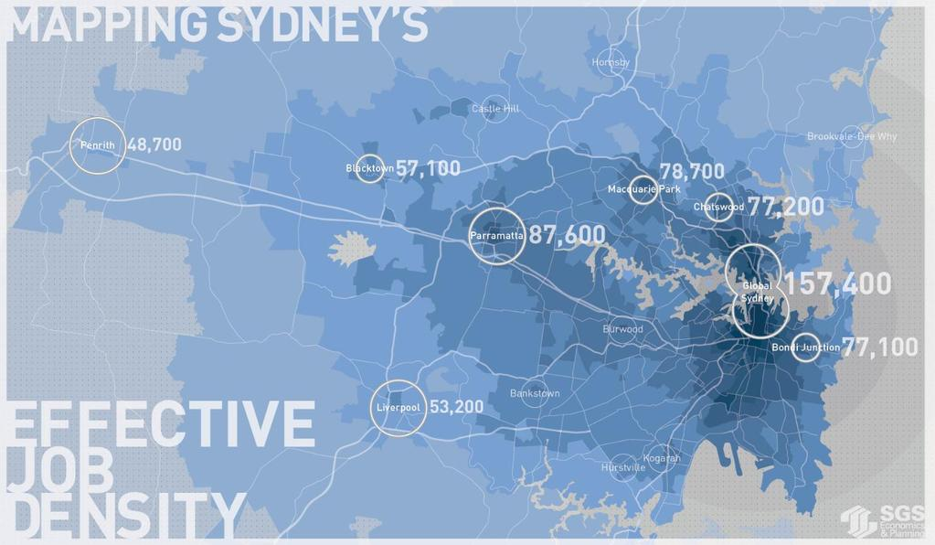 3.3 Integration with Global Sydney Current position GPOP is recognised as increasingly integrated with global Sydney.