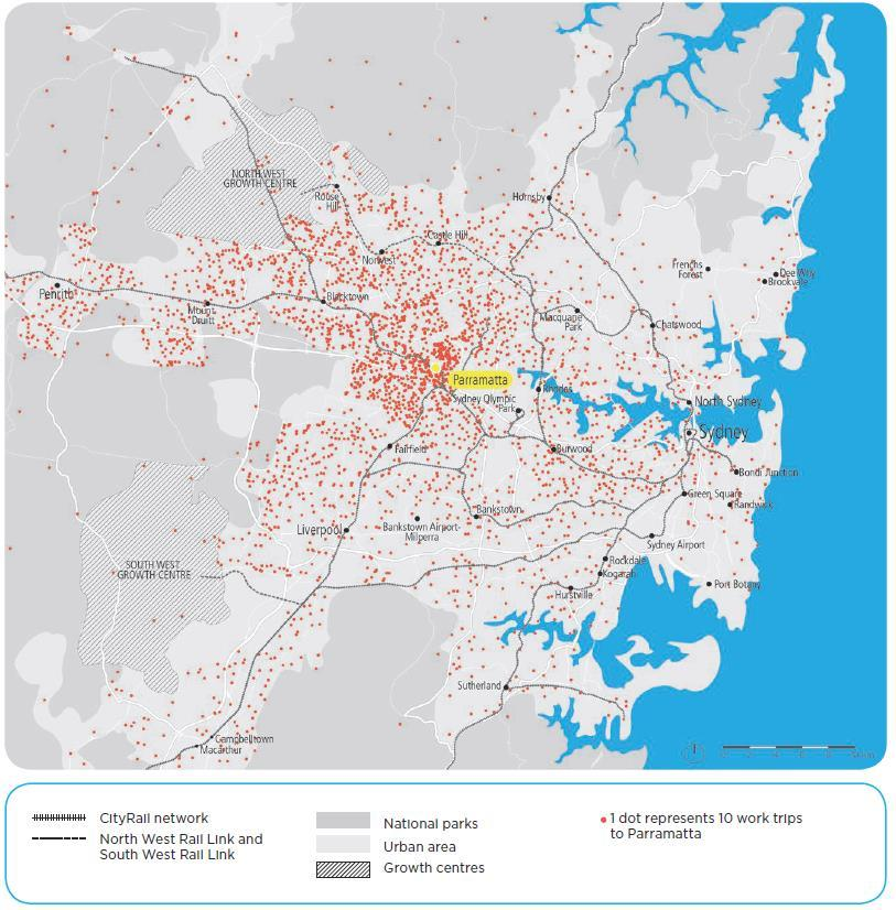 3.4 Reach to Western Sydney Current position The GPOP corridor is a service centre for western Sydney due to its proximity to other employment locations (employment lands and key centres).