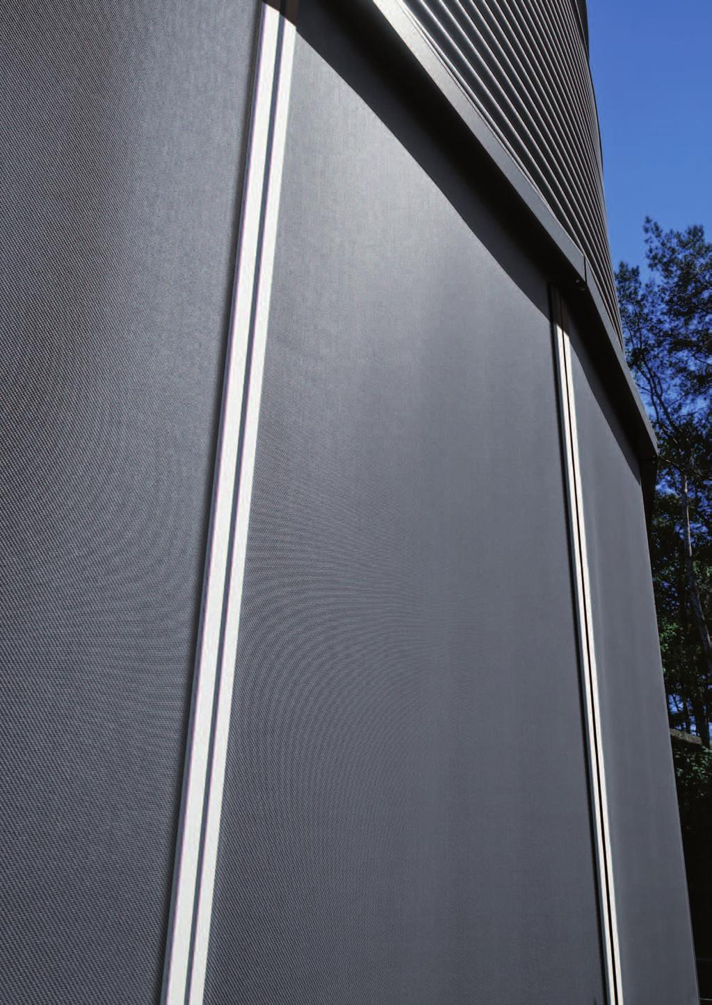 Ultimate Screen ZIP Windproof Roller Blinds HunterDouglas Ultimate Screen ZIP Windproof External Roller Blinds offer a high performance solution for heat and light control in more than 99% of common