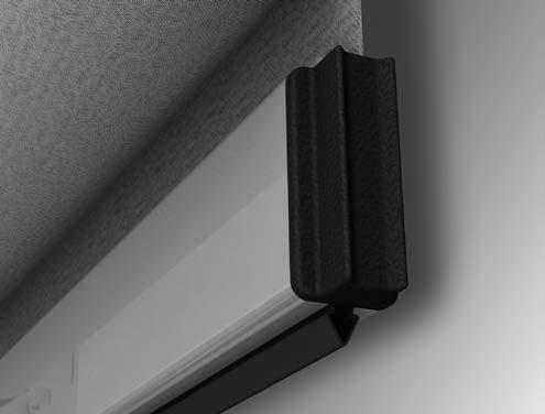System Properties BOTTOM BAR The colour coordinated bottom bar of 22 x 48 mm is made of extruded aluminium.