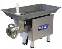 Powerful motor with a high capacity, suited for large butcher shops, large restaurants, meat processing factories, etc.