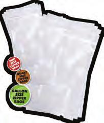 Zippered Embossed Vacuum Sealer Bags (50 pcs) 3 Mil Thick (*for External Clamp Type Machines) Ever store a big batch of jerky in a vacuum sealer bag only to open it, take out a few pieces, and have