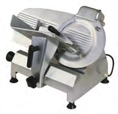 (E) KMS-13 (Cat#: BSMESLKMS13) - Highest capacity continuous use slicer. Gravity fed, gear driven. Built-in sharpener.