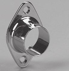 Open Wall-Mount Flange* Finish: Brass (BR), Chrome (CHR) BR Packed: 50 per carton with screws Holes: 2