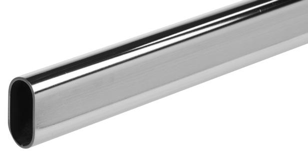 "2mm lengths Features: Heavy gauge, invisible welded seam Length Chrome (CHR) 96"" 880 CHR 96 144"" 880 CHR 144 Mounting"