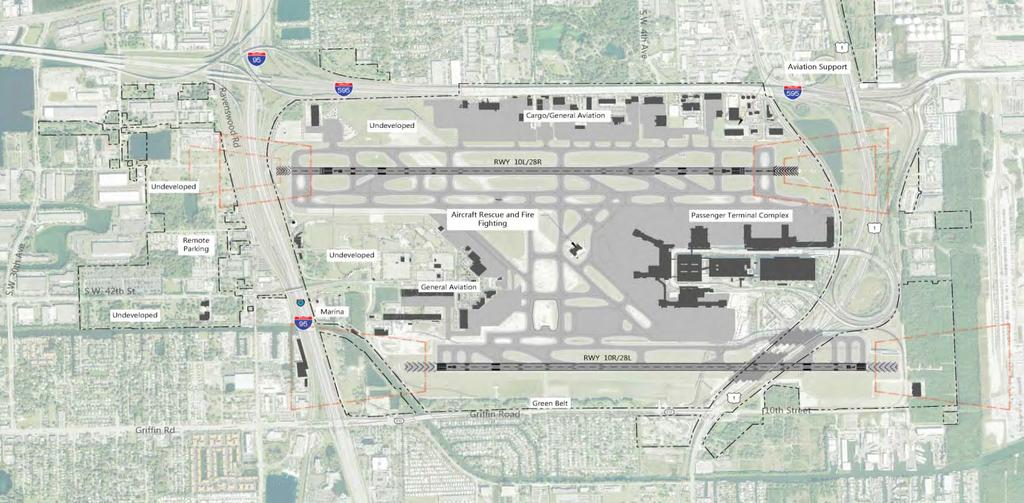 Physical Constraints of the Airport FLL Physical Airport Attributes Sources: Broward County Aviation Department, FLL Airport Layout Plan, August