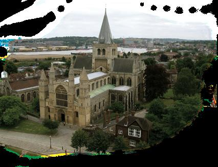 Gundulf, consecrated Bishop of Rochester in 1077, was responsible for the building of the cathedral we see today and the first stone castle to defend the town and the River Medway.