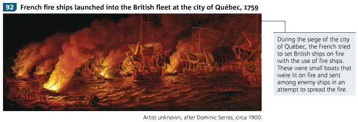 The siege of the city of Quebec (1759) PAGE 117 Spring of 1759, British fleet advanced on city of Quebec British general, James Wolfe, lay siege to the city with 39000 men (30000 marines, 9000