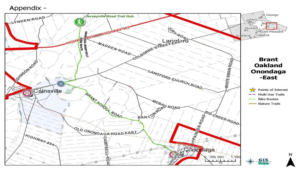8.7 Individual Community: Brant, Oakland Onondaga Area Mount Pleasant, located in the southern portion of the County, has a number of proposed enhancements to the current trail network.