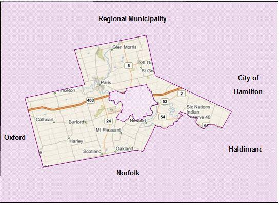 1.3 Study Area The County of Brant is a predominantly rural single-tier municipality in Southern Ontario with a population of approximately 36,700.