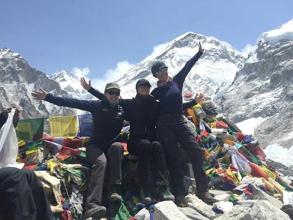 Loads of food, fuel, tents and oxygen cylinders are carried through the spectacular Khumbu Icefall to the camps high on the mountain.