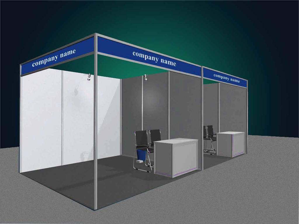 Sponsorship recognition in conference program Exhibition Stand Information The Exhibition Stands will include the following items: Shell Scheme Stand in aluminum white powder coated profile with