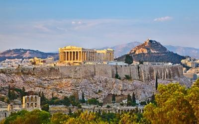 Today take overnight flight to Athens,