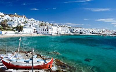 Hotel: Novotel or Zafolia or similar Day 3 Athens- Mykonos (by flight, about 45 minutes) After breakfast, transfer to airport to Mykonos, the island with bright sunshine, sandy beaches, blue ocean,