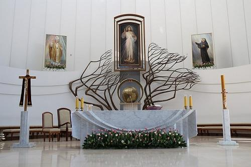 proclaimed 'The center of Divine Mercy' by The Pope John Paul II during his stay in Poland in 2002.
