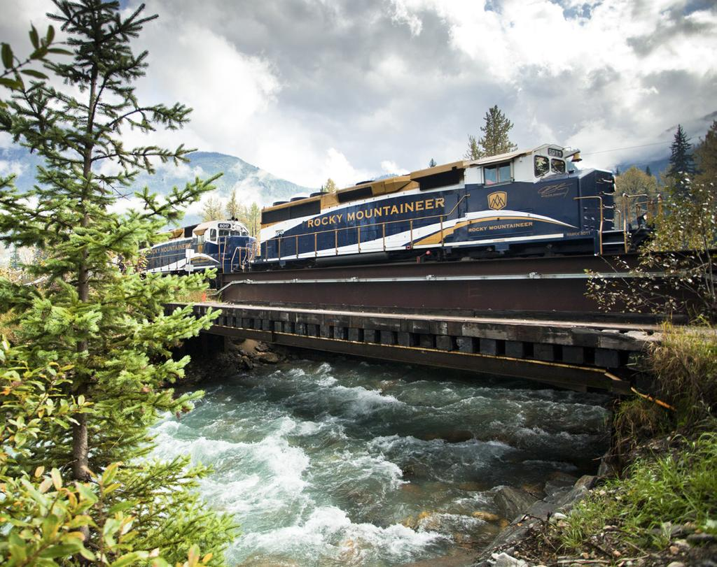 We visit Banff and enjoy a once-in-a-lifetime helicopter ride, we tour the Yoho National Park, and prior to boarding our train we spoil ourselves with an overnight at the breathtaking Lake Louise.