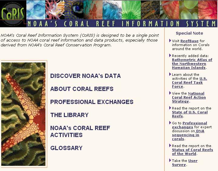 NOAA Coral Reef Information