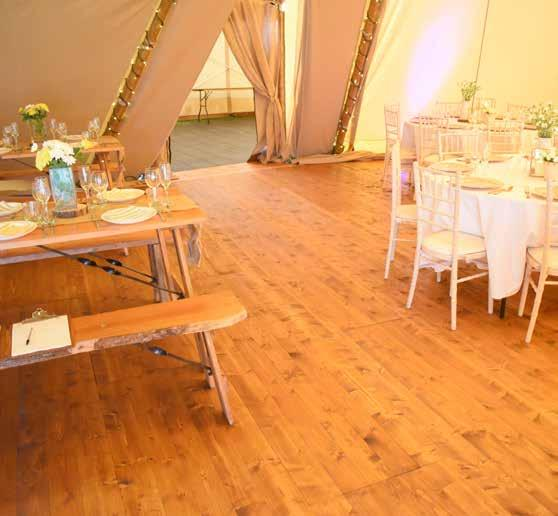 Wooden Flooring Wooden Flooring Add an element of luxury to your outdoor event with our stunning