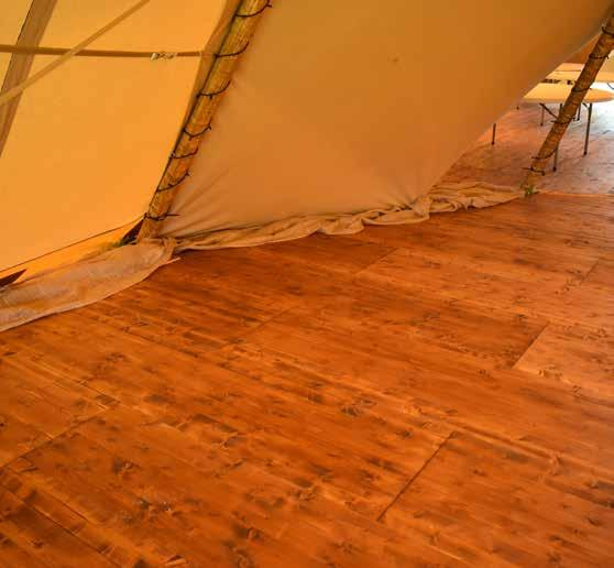 Our Wooden Flooring is ideal for long-term instalments or sites where drainage is an issue, in