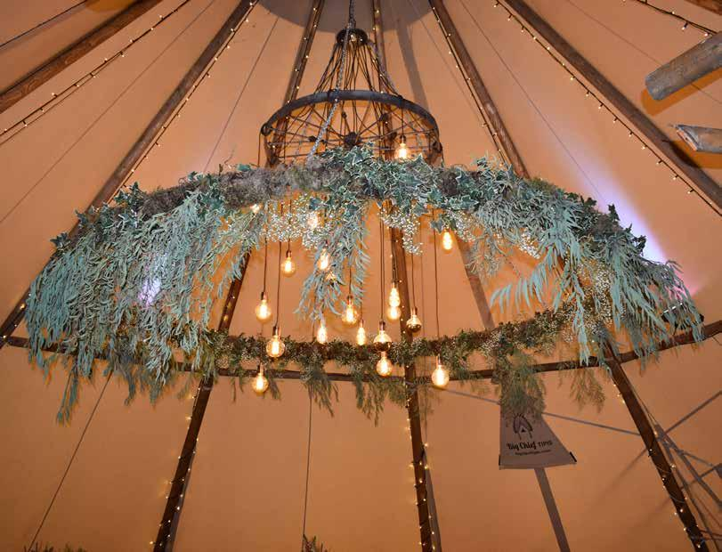 The Lighting New for the 2017 season is our giant 3m Flower Hoop & Cartwheel Chandelier combo,