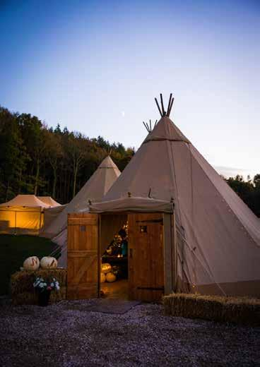 They make the ideal entrance into your tipi if your event is during