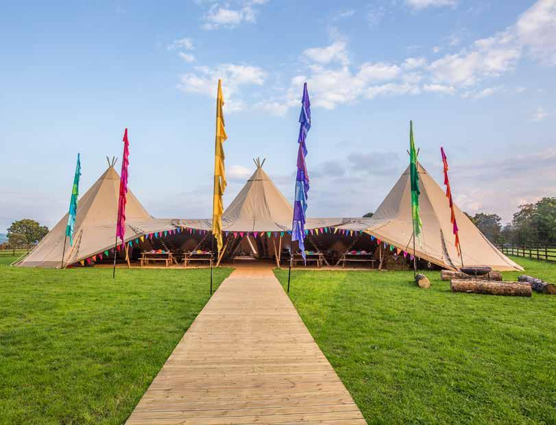 Our Tipis Big Hat Big Hat Tipi The Big Chief of our tipi range, our Big Hats can be interlinked together to create a space for over 500 guests.