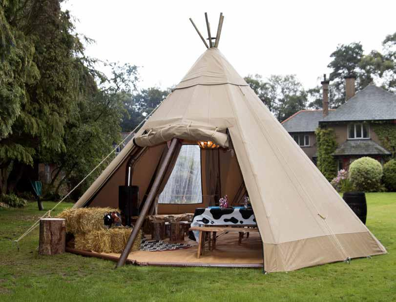 Our Tipis Baby Baby Tipi Our secret weapon is our Baby Tipi unique to Big Chief Tipis, the baby in our tipi range measures only 6.