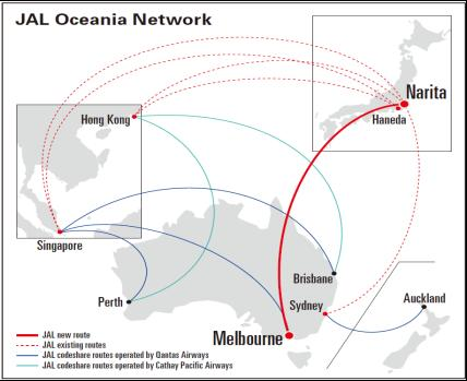 Recent Topics Route Network, Products & Services, Credit Ratings Int l (1) Launch Narita - Melbourne/787-8(SS8 ) (Sep 1, 2017~) By adding new route to Melbourne, a growing city, the network to