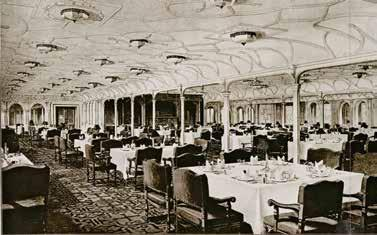 He and his parents had just been to Europe. He was on the Titanic. It was the biggest, most elegant ship ever built. His first-class cabin was as fancy as the nicest hotel room.