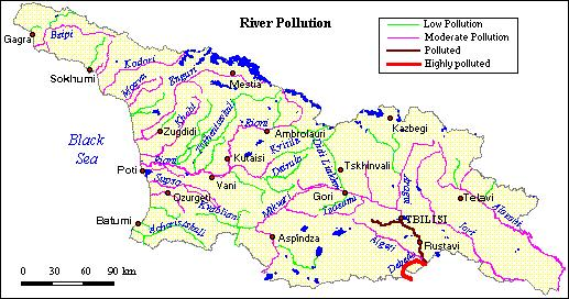 Water Pollution Madneuli Mining (copper, lead, zinc, barite and cold).