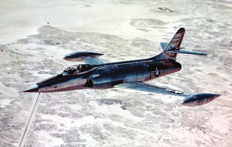 also the USAF McDonnell XF-88 with turboprop-1948 2 built.