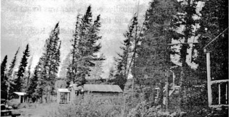 He guided a 1948 Geological Survey of Canada expedition to the area, and the first well in Canada was drilled on one of the foothills above Stony Lake.