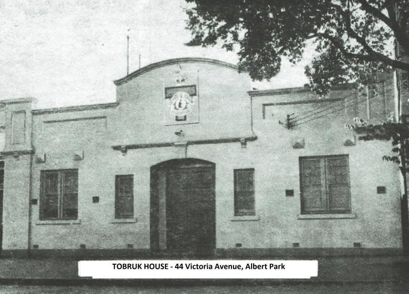 The Story of Tobruk House A Dream, which through determination and hard work, turned into reality. At precisely 3:55 pm, on Saturday, 29th September 1956, Lt-Gen.