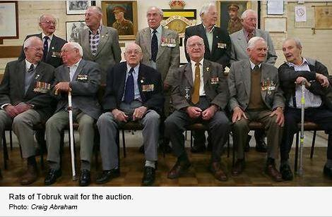 Bill Shelton, the Auctioneer from Allard & Shelton Pty Ltd [His Father was one of the Tobruk defenders who died during the battle], started the bidding at $1,000,000 with rises of $50,000 bids.