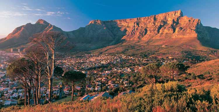 South Africa s Cape Town, built between the ocean and Table Mountain world. Learn about the natural life of the desert and enjoy a spectacular private dinner in the dunes.