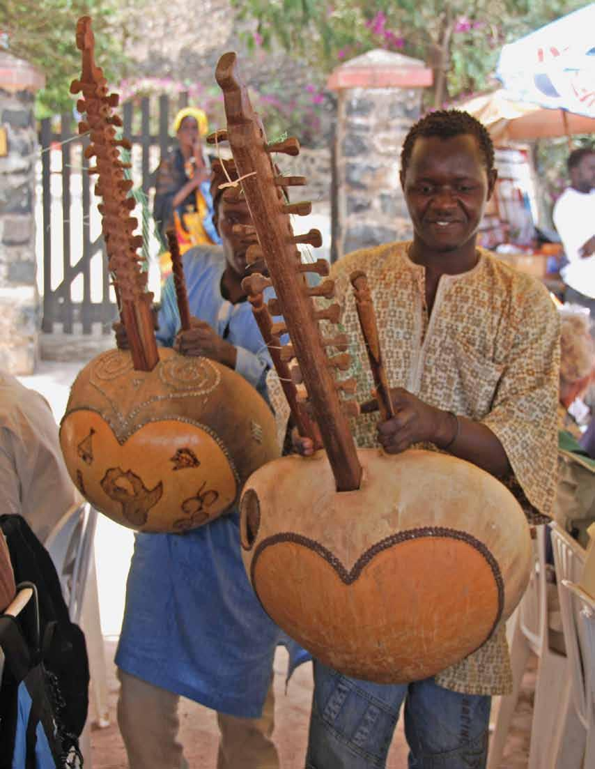 Musicians in Dakar playing the stringed