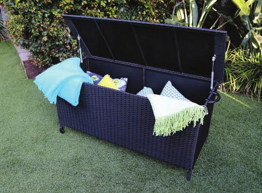 x 36 x 78cm with 5cm thick cushions Rattan