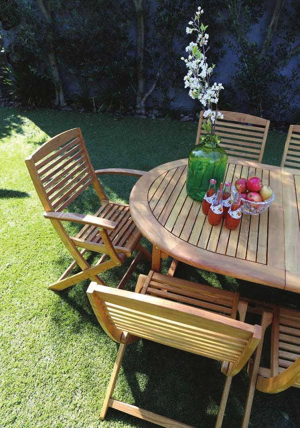 TIMBER BALI 9 PIECE DINING HX10670 (Timber) Extendable weather-resistant oval table and eight chairs Each