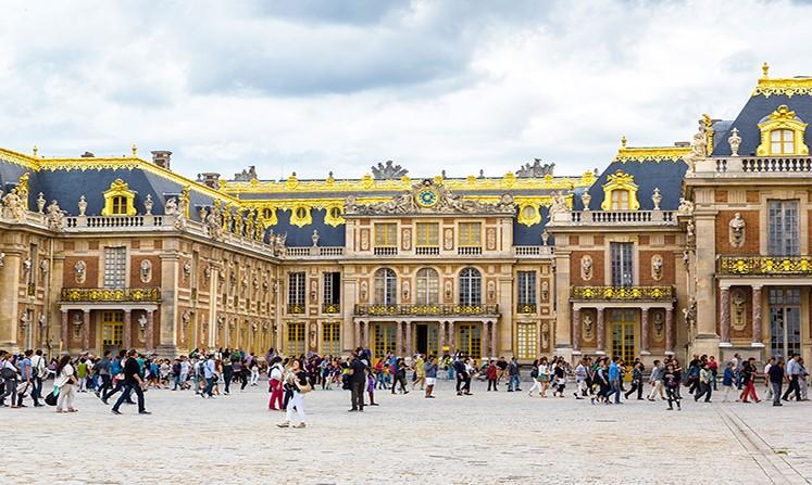 The Palace of Versailles is the former French royal residence and center of government located 16 km southwest of Paris.
