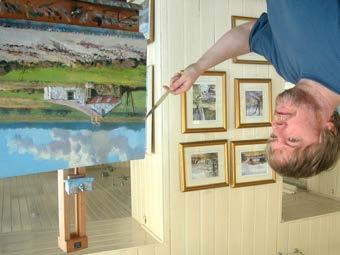 Home North West & Culture Mid North East Artist Philip Stanton puts the finishing touches to a canvas at