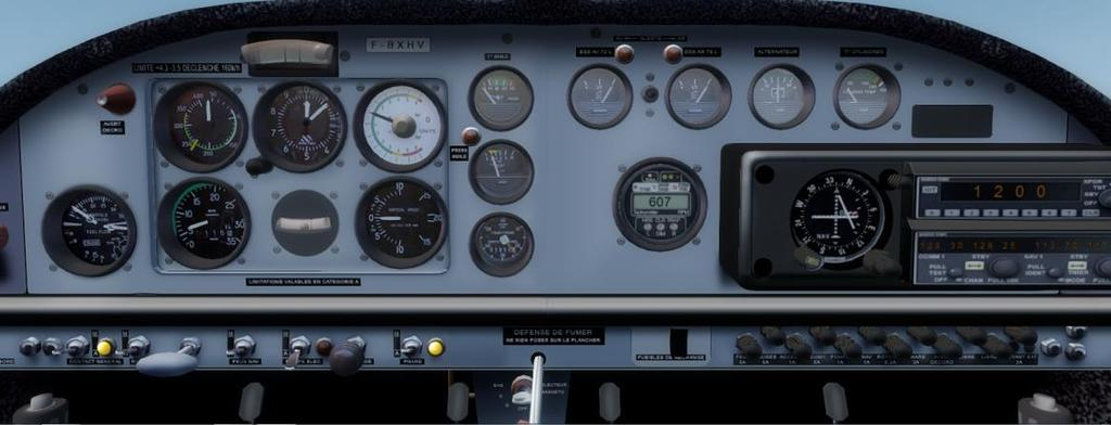 5.6. Cap 10B Cap 10B is an aircraft dedicated for aerobatics and contain very little equipment Transponder CDI (VOR & ILS Receiver) Flight plan equipment list is letter L (ILS), O(VOR), V(VHF), /C
