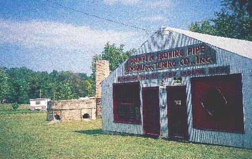 The Pamplin Pipe Factory, whose history dates back to the Appomatucks Indians, houses the original clay kiln that once produced one million clay pipes per month. located on Route 627, approximately 3.